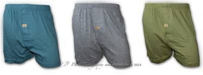 44093 Knit Jersey Boxers 3 Pack Teal Cyp Gray